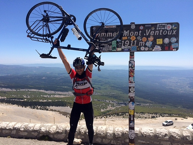 Albert's cycling vacation - on the Mt Ventoux