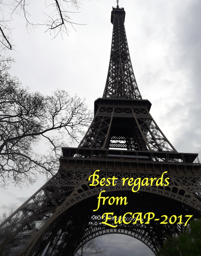 Best regards from EuCAP-2017 in Paris