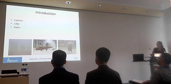 Rossiza Gourova presents her study of automotive radars performance degradation in rain